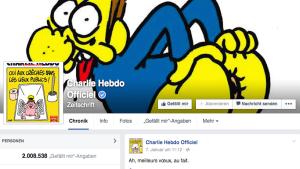 """""""Charlie Hebdo"""" auf Facebook"""