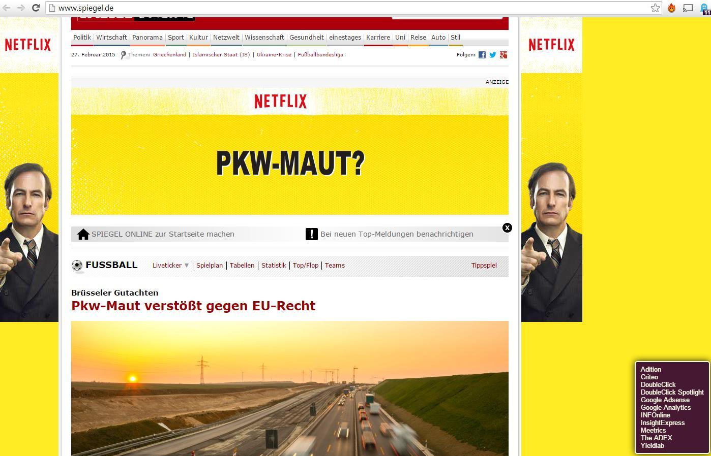 Netflix 2015; Spiegel Online