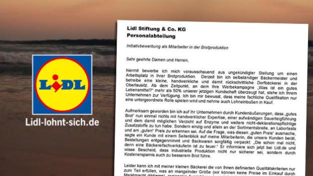 "Gut"" Bedeutet Billig: Bäckermeister Führt Lidl-Kampagne Vor"