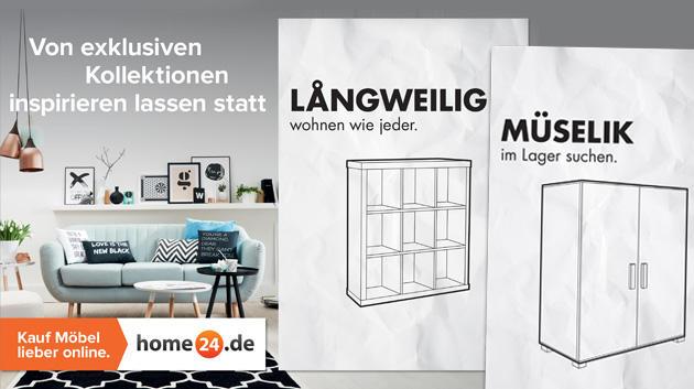 die freche anti ikea kampagne vom samwer spross home24 absatzwirtschaft. Black Bedroom Furniture Sets. Home Design Ideas