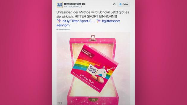 Ritter Sport Landet Erneut Coup Mit Magischer Einhorn Schokolade