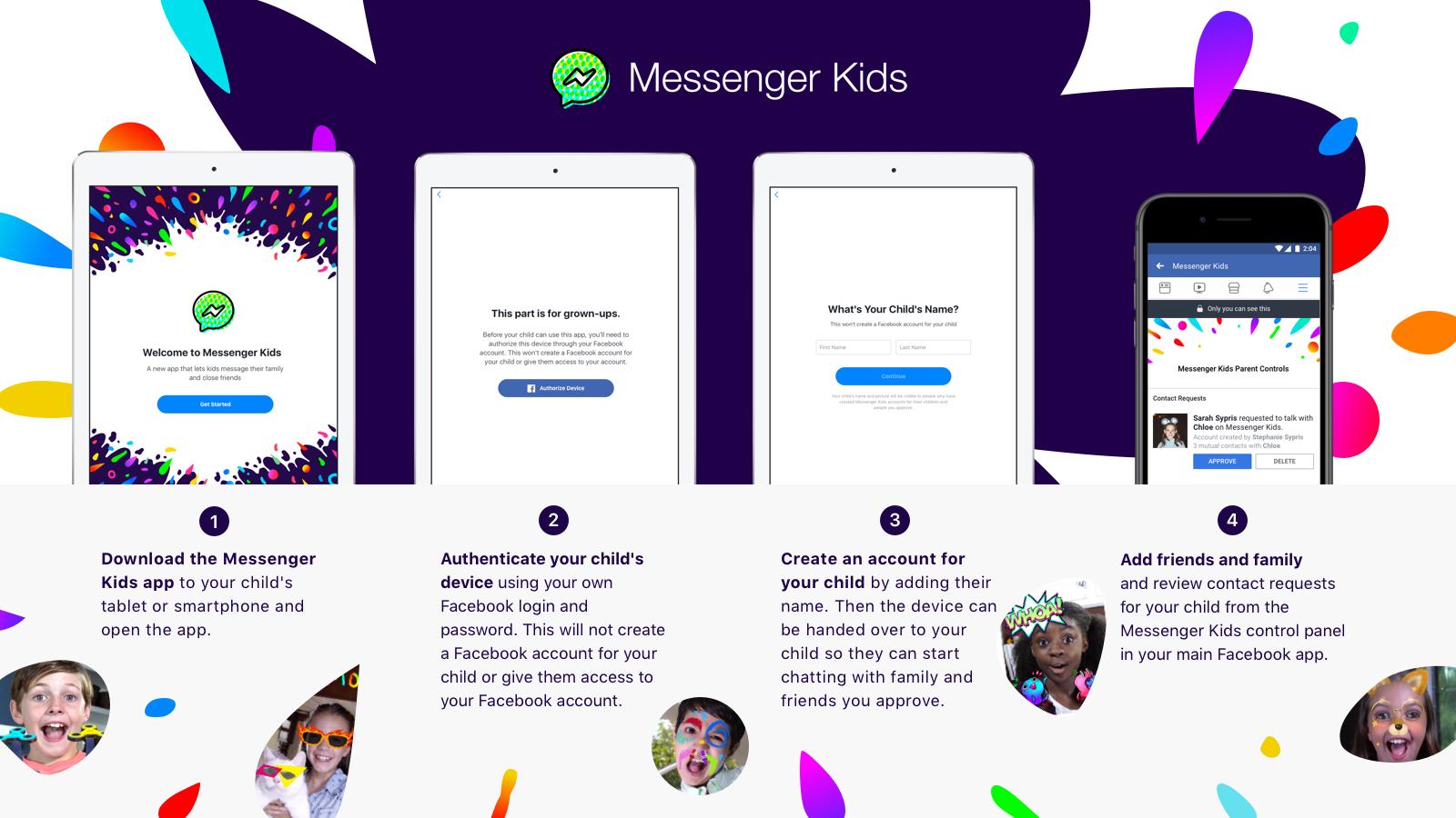 Facebook startet Messenger Kids - eine App für Kinder