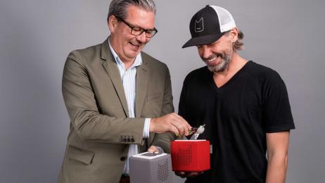 Tonies-Erfinder Marcus Stahl und Patric Faßbender